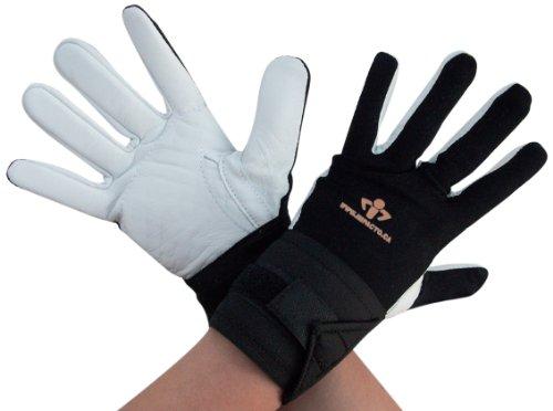 Grande taille Impacto 473–30 Gant/Support pour poignet Paume/doigts Noir/blanc