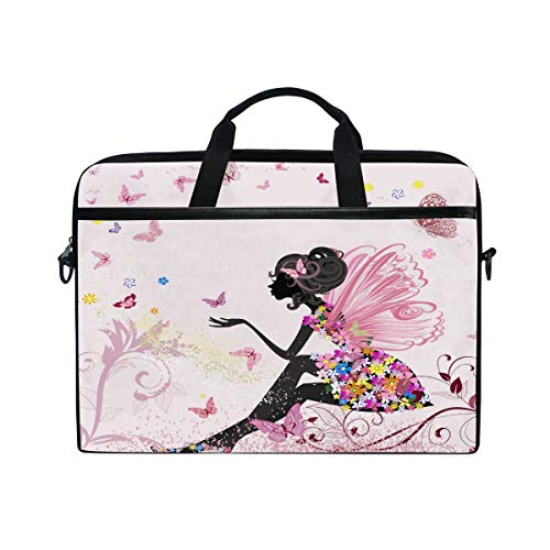 Nander Flower Fairy Angel Butterfly 15-Inch Laptop Computer and Tablet Shoulder Bag Carrying Case
