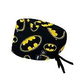 Modelo: BATMAN CON SISTEMA CLICK - Pelo Largo -Gorro de Quirófano ROBIN HAT con sistema de sujeción con click - Ajustable- 100% algodón (Autoclave)