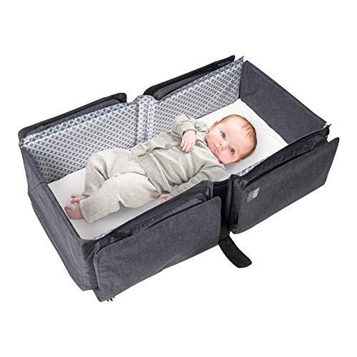 Bibababy Doomoo Basics Delta Baby Travel Bag Diaper Bag Travel Cot Grey Melange