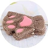 Small-shop Winter Gloves Guantes de Felpa Kawaii para Mujer, sin Dedos, sin Dedos, para niñas,...