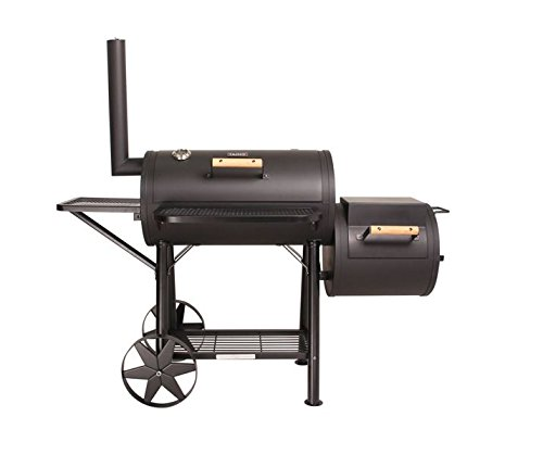 CosmoGrill™ Smoker 90KG XXL Barbecue with Temperature Gauge & Charcoal Barrel