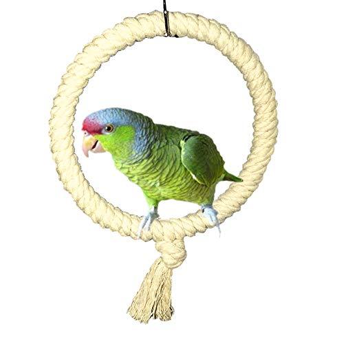 Wishwin, Giocattolo per pappagalli, in Corda di Cotone, da Masticare, per Gabbia