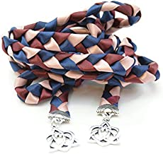 Divinity Braid Navy Rose Gold with Silver Celtic Heart Knot Wedding Handfasting Cord #Handfasting #Celtic #CelticHandfasting #Wedding #WeddingHandfasting