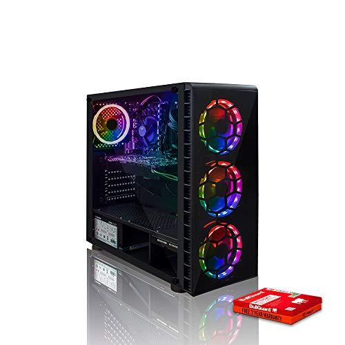 Fierce Venom RGB/RVB PC Gamer - Vite 4GHz Quad-Core AMD Ryzen 3 3200G, 1To Disque Dur, 8Go 3000MHz, AMD Radeon Vega 8 Graphiques, Windows Non Inclus 1110043