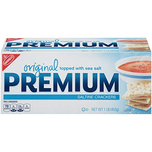 Premium Saltine Crackers, (Original, 16-Ounce Box)