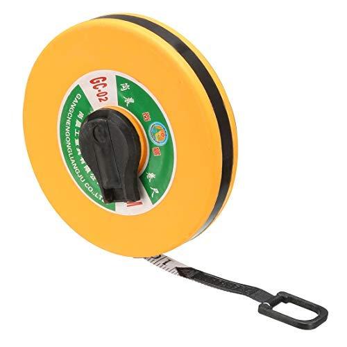 DealMux Long Tape Measure 65ft / 20m Fiberglas-Messlineal für den BAU Maurerarbeiten Zimmerei Gelb