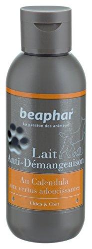 BEAPHAR – Lait anti-démangeaisons pour chien et chat – Contient du Calendula aux vertus adoucissantes – Apaise et calme les zones cutanées irritées – Soulage rapidemment les démangeaisons – 125 ml