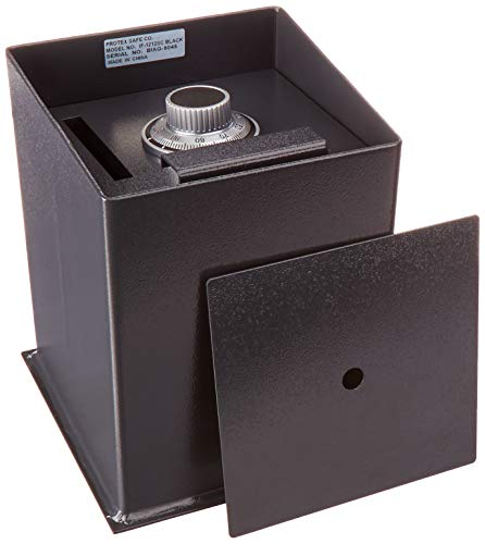 Protex IF-1212SC II Black Business Floor Safe with Drop Slot, Black