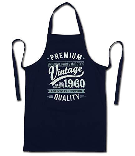 My Generation Gifts 1960 Vintage Year - Aged To Perfection - 60 Cumpleaños Regalos / 30 años Delantal para Hombre Azul Marino