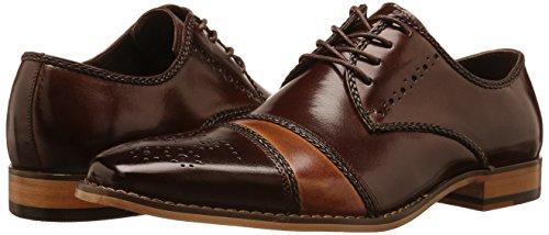 Stacy Adams Men's Talbot Cap Toe Oxford, Brown/Tan, 14 M US
