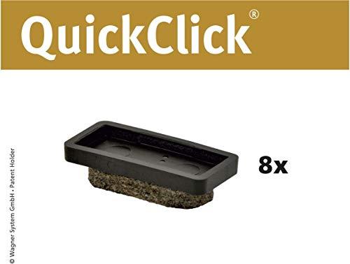 WAGNER QuickClick® Stuhlgleiter I 8er-Set Ersatzgleiter I - ULTRASOFT - 32 x 15 mm - 15955100