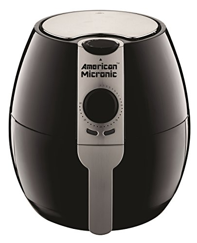 American Micronic- AMI-AF1-35CLDx- 3.5 Liters 1500 Watts Imported Air Fryer (Silver & Black)