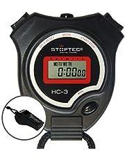 Schütt Stoptec HC-3 Stopwatch met fluitje - digitale stopwatch | hobby | sport | vrije tijd | spatwaterdicht | geschikt voor kinderen