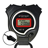 Schütt Stoptec HC-3 - Cronómetro digital con silbato (resistente a salpicaduras, apto para niños)