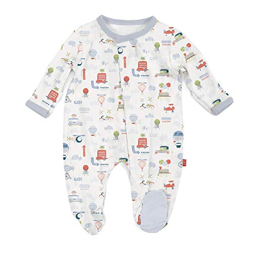 Magnetic Me Footie Pajamas Soft Modal Baby Sleepwear Quick Magnetic Fastener Sleeper Little Voyager 6-9 Months