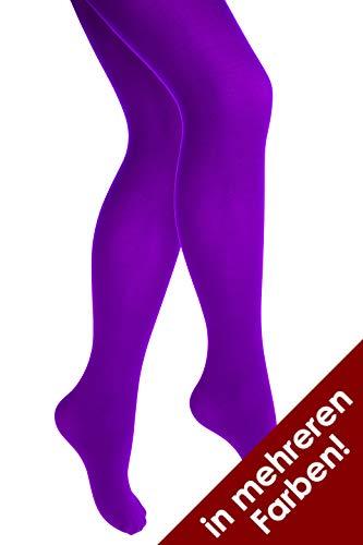 Thetru Damen-Strumpfhose in lila   Größe S/M   Blickdichte-Strumpfhosen für Karneval und Fasching (lila)