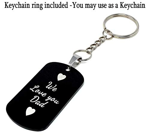 Interway Trading Personalized Custom Photo and Message Necklace Pendant Keychain Dog tag