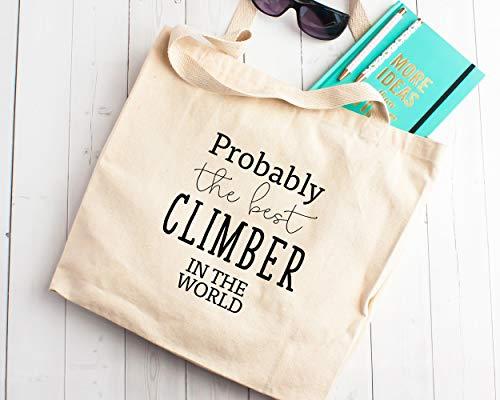 Bolsa de la compra de lona para el mejor escalador del mundo, regalo para entusiastas de la escalada rocosa que molesta a la montaña