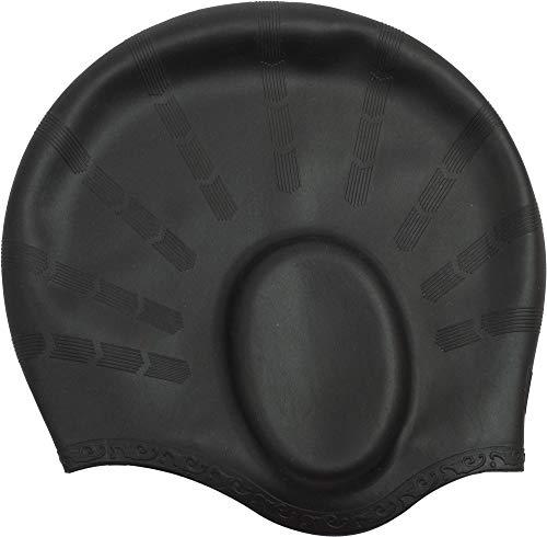 Cressi Ear cap Cuffia Nuoto Unisex, di Alta qualità, in Silicone Anallergico, Modello con Sede Orecchie, Nero