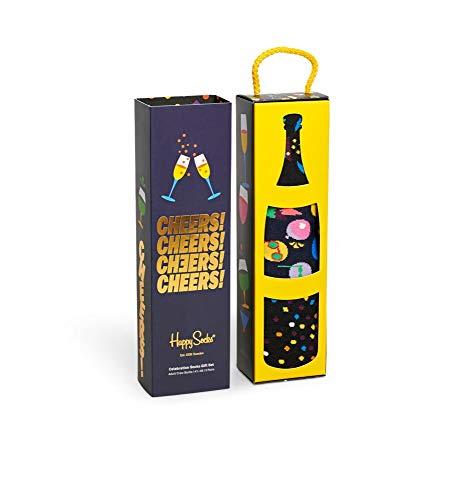 Happy Socks Celebration 3-Pack Gift Set Calzini, Multicolore, Large Uomo