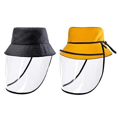 Free Soldier Bonnet de protection intégral avec bord en plastique, chapeau de pêcheur pour homme et femme, chapeau de protection contre le soleil pour la pêche, la randonnée, la chasse, noir/jaune