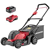 """Powerworks XB 40V 17"""" Cordless Push Mower, 4Ah Battery and Charger Included LMF318"""
