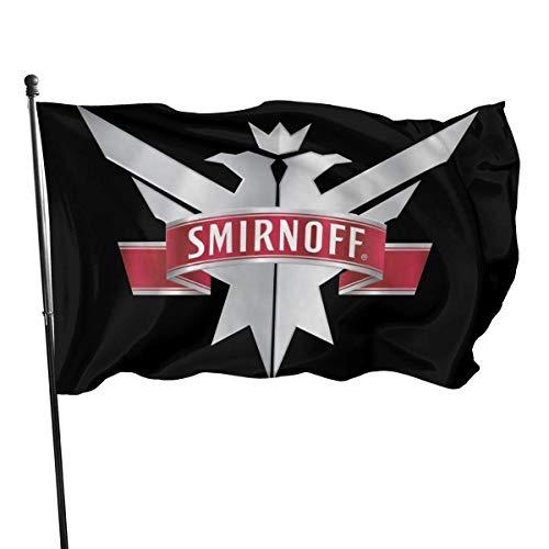 LZHANDA Garten Flaggen Flagge Fahne, Smirnoff Vodka Flag Banner 3x5 Feet