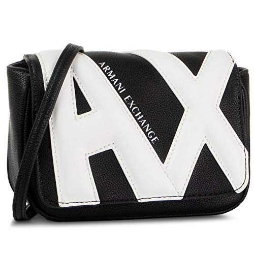 Armani Exchange - Bolso, color negro y blanco