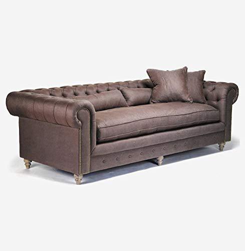 JVmoebel Chesterfield, divano a 3 posti, con imbottitura di design, set 2016-17