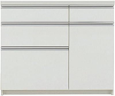 パモウナ 食器棚WL パールホワイト 幅100×高さ85×奥行50 日本製 WLA-1000R下台