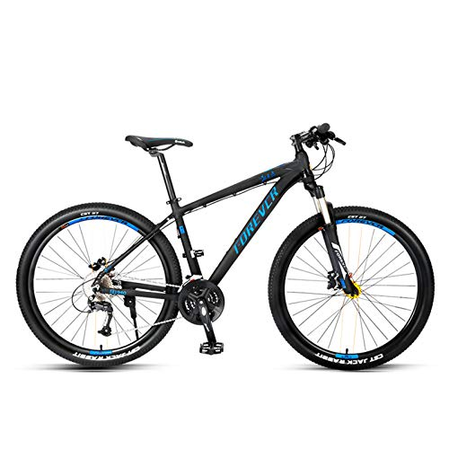 JKCKHA 27.5 Inch Mountain Bike 27-Speed for Man And Woman,Aluminum Alloy Frame with Internal Wiring Lock-Out Suspension Fork Hydraulic Disc-Brake,Blue