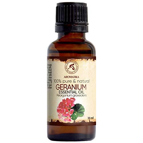 Olio Essenziale di Geranio Bourbon 30ml - Pelargonium Graveolens - Madagascar -...