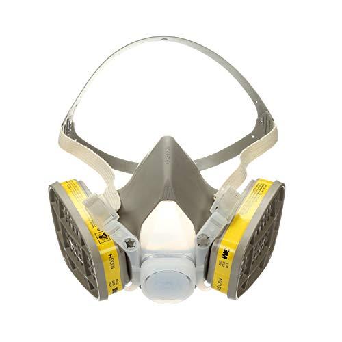 3M Half Facepiece Disposable Respirator Assembly 5303, Organic Vapor/Acid Gas, Large