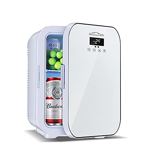 PEIHAN Mini Fridge 20 Liter AC/DC Portable Thermoelectric Cooler and Warmer for Skincare, Foods, Medications, Home and Travel, for Mothers Day, White