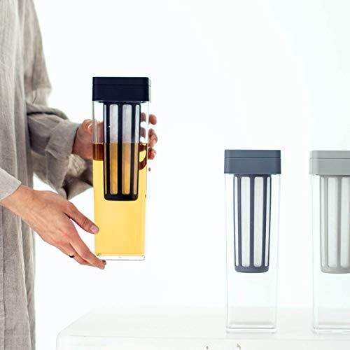 b2cウォータージャグ水出しフィルター付き(ブラック)|麦茶ポット水出しコーヒーコールドブリューポットジャグピッチャー