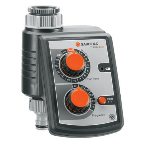 Gardena Water Timer T 1030 plus - Accesorio de hogar (Negro, Gris, Naranja, De plástico)