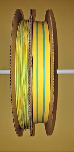 Schrumpfschlauch grün/gelb 2:1 verschiedene Längen Ø 1,2 bis 25,4 mm ab 25 cm bis 20 Meter (Ø 4,8 mm, 5 Meter)