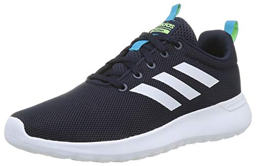 adidas Unisex-Child Lite Racer CLN Sneaker, Legend Ink Footwear White Signal Green, 38 EU