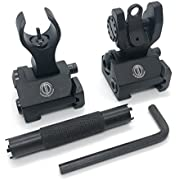 DD DAGGER DEFENSE Dagger Defense crescent shaped BUIS with front sight tool, back up iron sights for co-witness