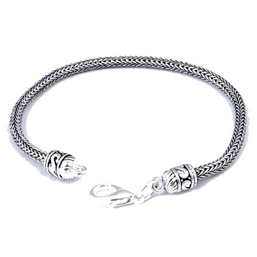 Designer Plan Bracelet 7-9' Long ! Retro Fashion For Unisex! terling Silver Plated! Handmade!