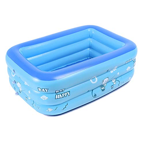 Susue - Piscina de PVC hinchable rectangular, para el jardín, azul, xx-large