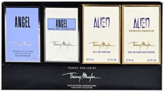 Thierry Mugler Mini Variety Collection for Women (Angel EDP 0.17 oz, Angel EDT 0.1 oz, Alien EDP 0.2 oz, Alien Essence Absolute EDP 0.2 oz.)