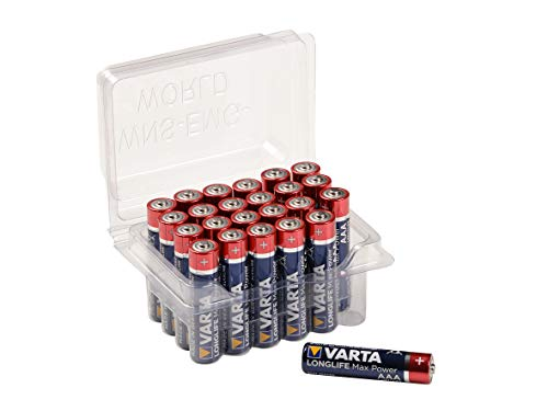 24x VARTA Longlife Max Power Batterie AAA Micro Alkaline Batterien LR3