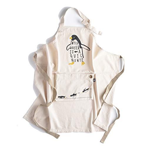 アンドパッカブル エプロン オシャレ収納 白ペンギン ホワイト 62809