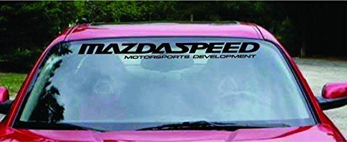 36' or 40' MAZDASPEED motorsports Windshield Decal...