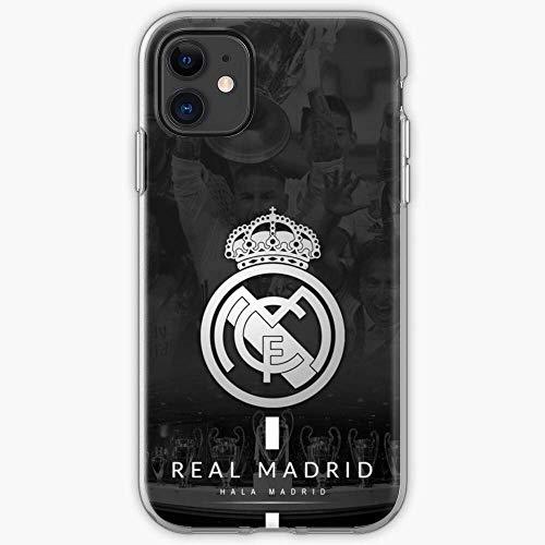 Gladiour Compatible con iPhone 11 12 Pro Max XR 6/7/SE 2020 Carcasa Madrid Real Escudo Pure Clear Funda de teléfono a prueba de golpes