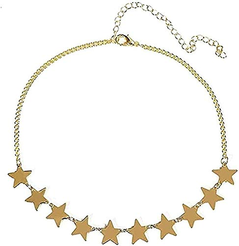 Collar Collar Simple Llanura Collar de Estrella Cuello para Mujer o Cinta Cadena Collares CollarColganteCollarColgante Regalo para Mujeres Hombres Niñas Niños