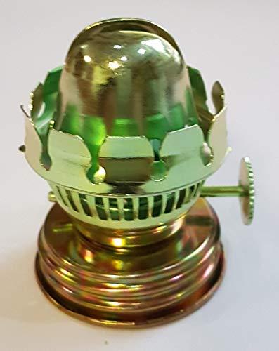 Oberstdorfer Glashütte Kleiner Ersatz Brenner für Öllampen Petroleumlampen für Flachdochte Breite 15 mm mit Gewindering Gewinde Innen und Außen Höhe 50 mm Gewindeinnen Ø 35 mm