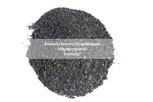 Lisaro Boxsackfüllung Gummigranulat | 25kg Schwarz – Füllungsmaterial Made IN Germany | Dummy-Füllung – Maisbirne-Füllung – Ringerpuppen-Füllung